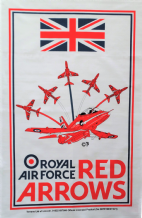 Red Arrows Hawk Royal Air Force RAF Galley Cloth / Fabric Poster / Tea Towel